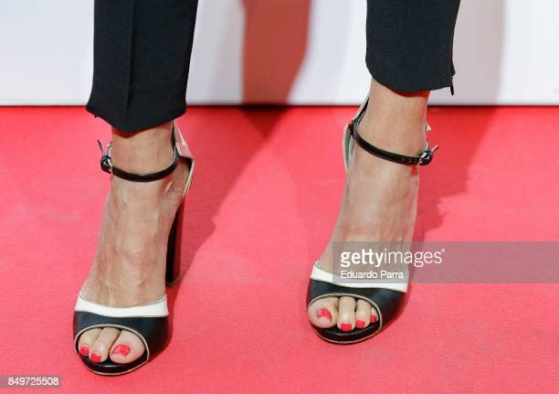 Actress Goya Toledo shoes detail attends the 'Kingsman El Circulo De Oro' premiere at Callao cinema on September 19 2017 in Madrid Spain