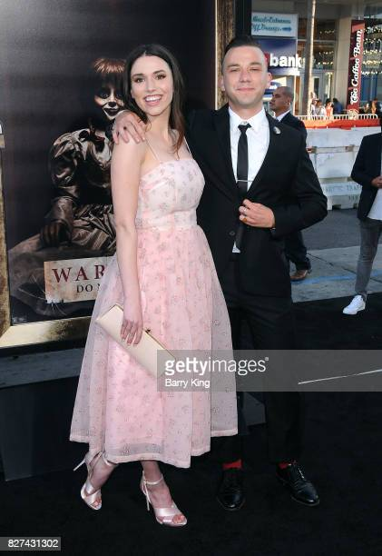 Actress Grace Fulton and guest attend the premiere of New Line Cinema's' 'Annabelle Creation' at TCL Chinese Theatre on August 7 2017 in Hollywood...