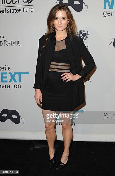 Actress Grace Gummer arrives at the UNICEF's Next Generation's 2nd Annual UNICEF Masquerade Ball on October 30 2014 in Los Angeles California