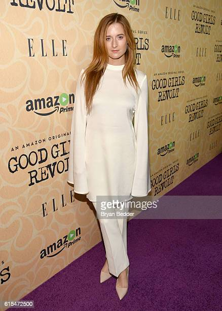 Actress Grace Gummer attends the Amazon red carpet premiere screening of the original drama series Good Girls Revolt at Hearst Tower on October 18...
