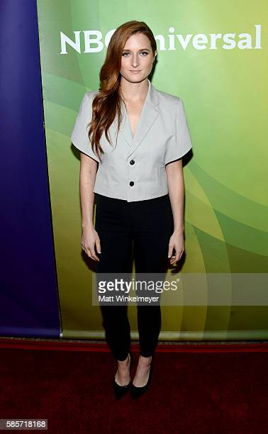 Actress Grace Gummer attends the NBCUniversal press day 2 during the 2016 Summer TCA Tour at The Beverly Hilton Hotel on August 3 2016 in Beverly...