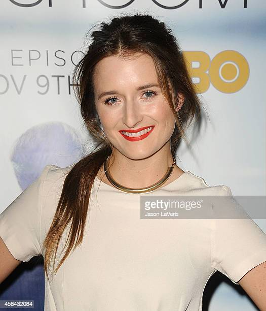 Actress Grace Gummer attends the premiere of 'The Newsroom' at DGA Theater on November 4 2014 in Los Angeles California