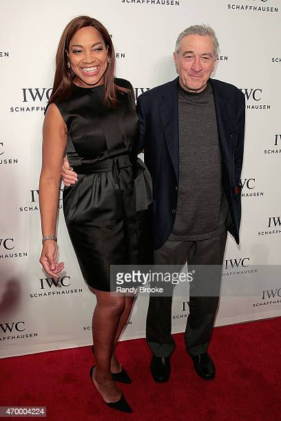 Actress Grace Hightower and TFF cofounder Robert De Niro attend the IWC Schaffhausen third annual 'For the Love of Cinema' dinner during Tribeca Film...