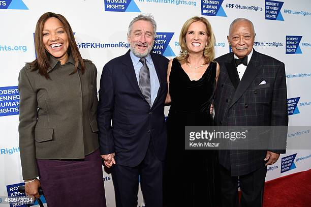 Actress Grace Hightower Honoree Robert De Niro writer Kerry Kennedy and former Mayor of New York City David Dinkins attend the RFK Ripple Of Hope...