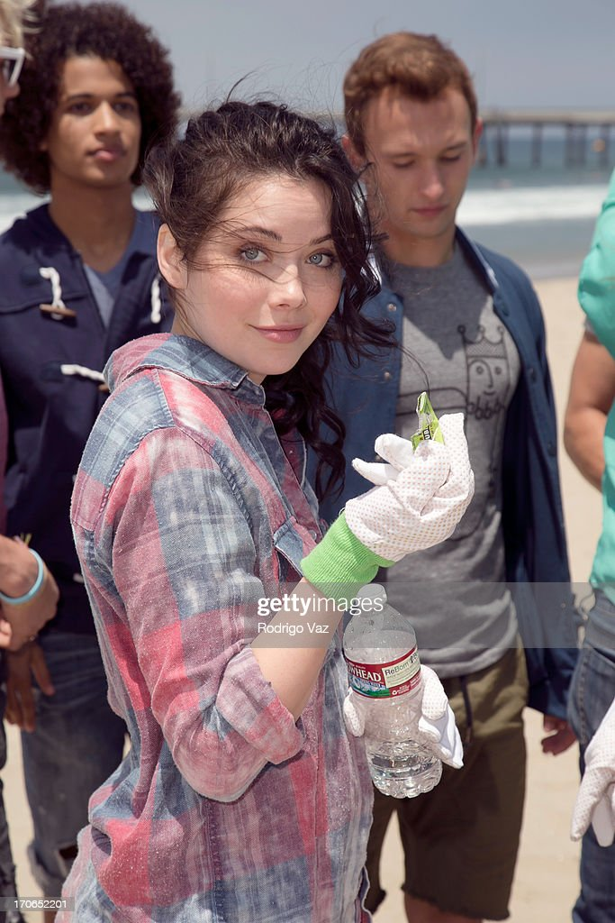 Actress Grace Phipps, star of Disney's 'Teen Beach Movie' joins Heal The Bay for beach clean up on June 15, 2013 in Venice, California.