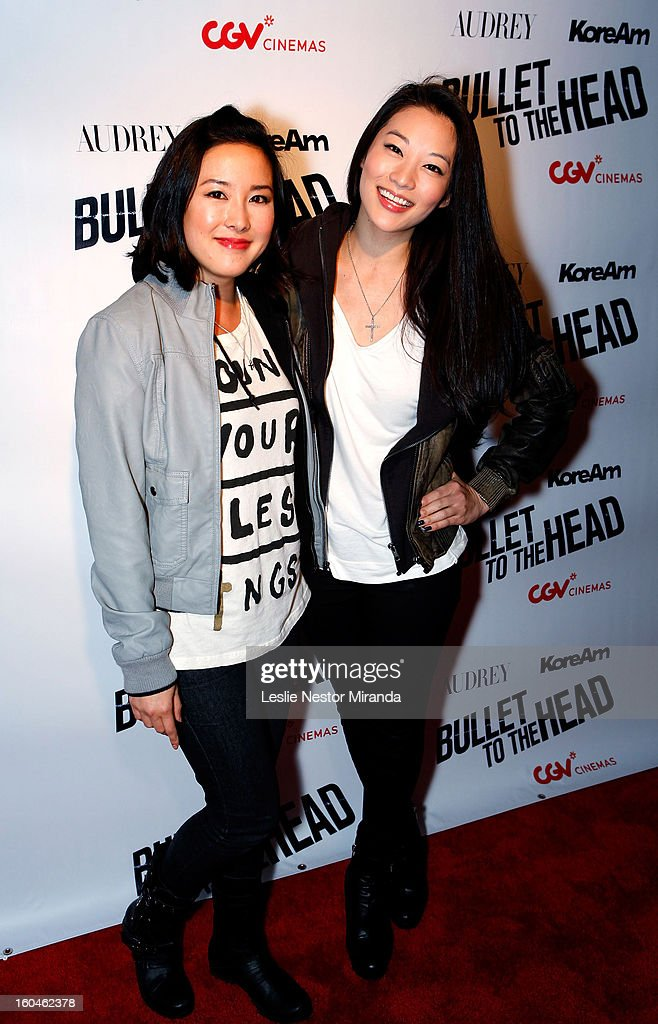 Actress Grace Su and Actress/Model Arden Cho attends 'Bullet To The Head' screening at CGV Cinemas on January 31, 2013 in Los Angeles, California.