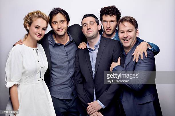 Actress Grace Van Patten actor Michal Vondel director Adam Leon actor Callum Turner and actor Mike Birbiglia from the film 'Tramps' pose for a...