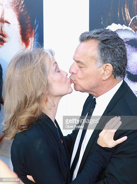 Actress Grace Zabriskie and actor Ray Wise arrive at the 'Twin Peaks The Entire Mystery' Release Party at the Vista Theatre on July 16 2014 in Los...