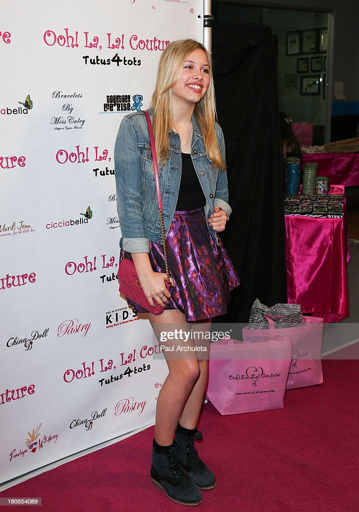 Actress Gracie Dzienny attends the 4th Annual Tutus4Tots charity event on February 2, 2013 in Chino, California.