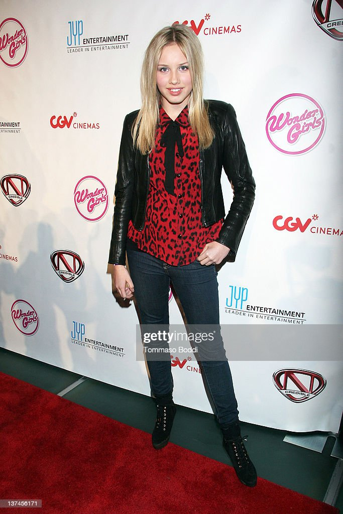 Actress Gracie Dzienny attends 'The Wonder Girls' Los Angeles premiere held at the CGV Cinemas on January 20, 2012 in Los Angeles, California.