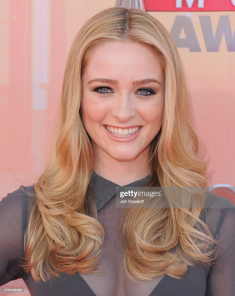 Actress <a gi-track='captionPersonalityLinkClicked' href=/galleries/search?phrase=Greer+Grammer&family=editorial&specificpeople=4524282 ng-click='$event.stopPropagation()'>Greer Grammer</a> arrives at the 2015 iHeartRadio Music Awards at The Shrine Auditorium on March 29, 2015 in Los Angeles, California.