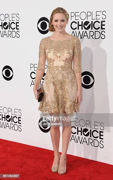 Actress Greer Grammer arrives at The 40th Annual People's Choice Awards at Nokia Theatre LA Live on January 8 2014 in Los Angeles California