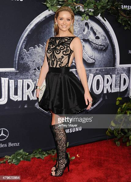 Actress Greer Grammer arrives at the 'Jurassic World' World Premiere at Dolby Theatre on June 9 2015 in Hollywood California