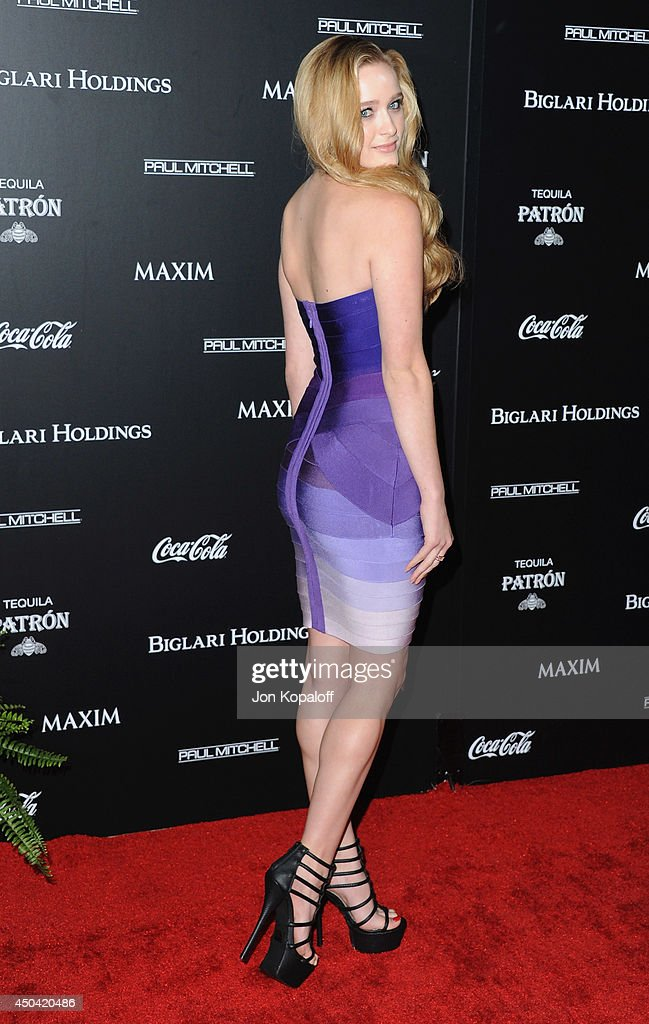 Actress Greer Grammer arrives at the MAXIM Hot 100 Celebration Event at Pacific Design Center on June 10, 2014 in West Hollywood, California.