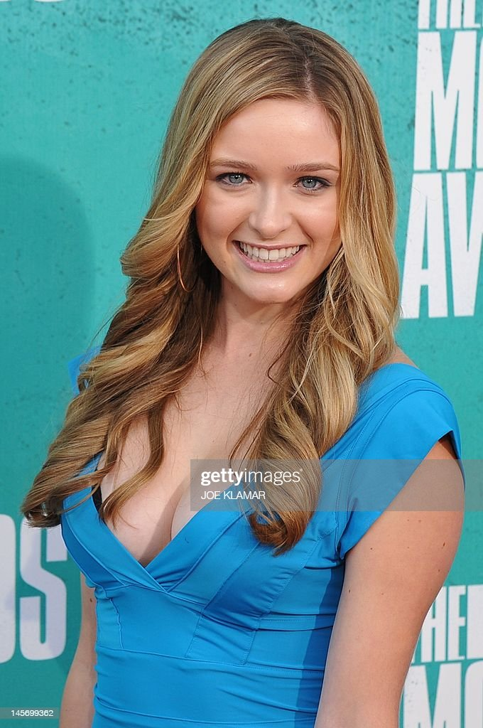 Actress Greer Grammer arrives at the MTV Movie Awards at Universal Studios, in Los Angeles, California, on June 3, 2012.