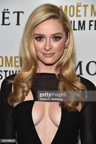 Actress Greer Grammer attends Moet Chandon Celebrates 25 Years at the Golden Globes on January 8 2016 in West Hollywood California