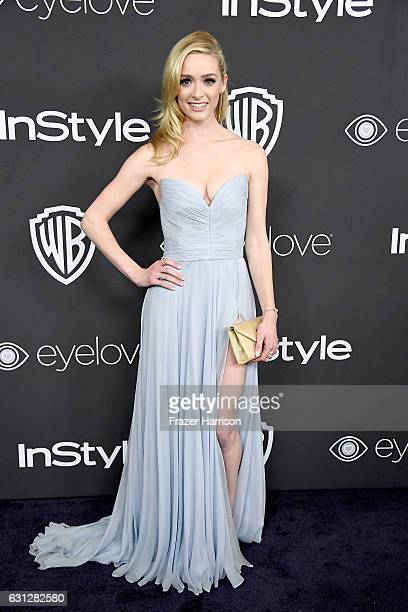 Actress Greer Grammer attends the 18th Annual PostGolden Globes Party hosted by Warner Bros Pictures and InStyle at The Beverly Hilton Hotel on...