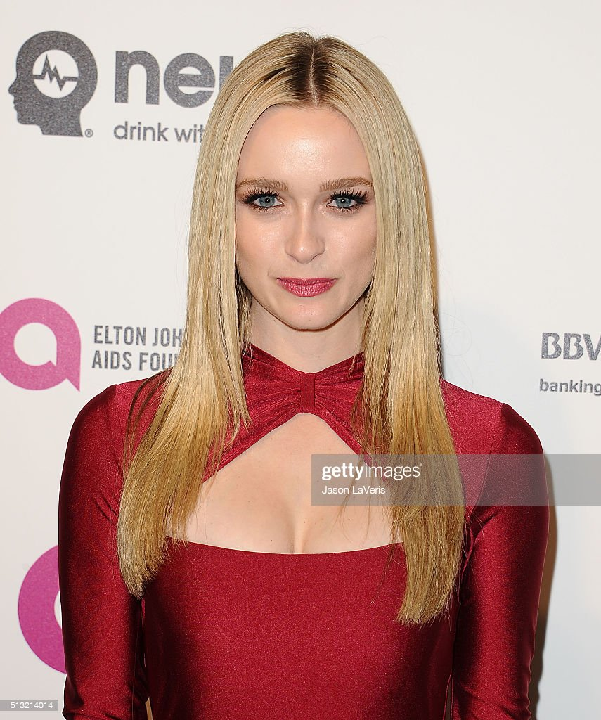 Actress Greer Grammer attends the 24th annual Elton John AIDS Foundation's Oscar viewing party on February 28 2016 in West Hollywood California