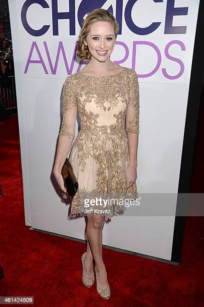 Actress Greer Grammer attends The 40th Annual People's Choice Awards at Nokia Theatre LA Live on January 8 2014 in Los Angeles California