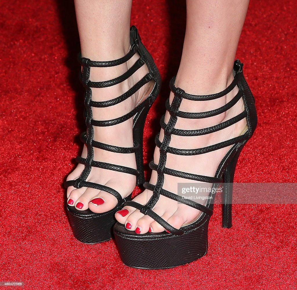 Actress Greer Grammer (shoe detail) attends the Maxim Hot 100 event at the Pacific Design Center on June 10, 2014 in West Hollywood, California.