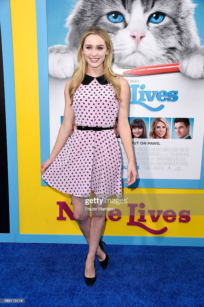 Actress Greer Grammer attends the Premiere Of EuropaCorp's 'Nine Lives' at TCL Chinese Theatre on August 1 2016 in Hollywood California