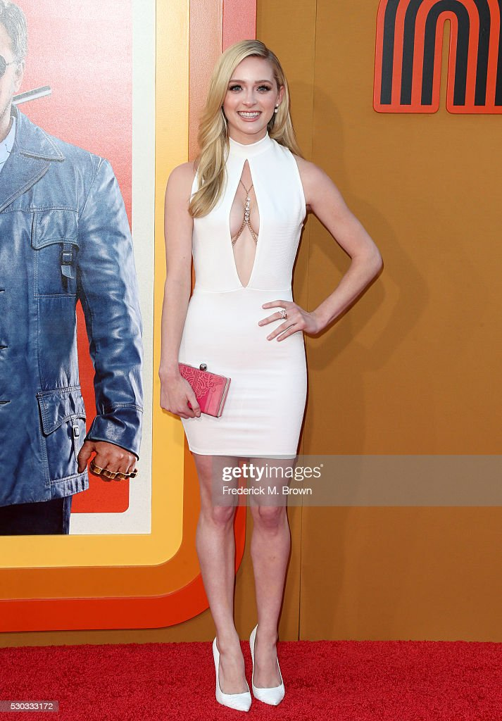 Actress <a gi-track='captionPersonalityLinkClicked' href=/galleries/search?phrase=Greer+Grammer&family=editorial&specificpeople=4524282 ng-click='$event.stopPropagation()'>Greer Grammer</a> attends the premiere of Warner Bros. Pictures' 'The Nice Guys' at TCL Chinese Theatre on May 10, 2016 in Hollywood, California.