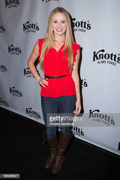 Actress Greer Grammer attends the VIP opening of Knott's Scary Farm HAUNT at Knott's Berry Farm on October 3 2013 in Buena Park California