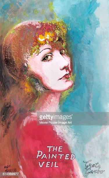 Actress Greta Garbo appears on a poster by Aris for the movie 'The Painted Veil' 1934