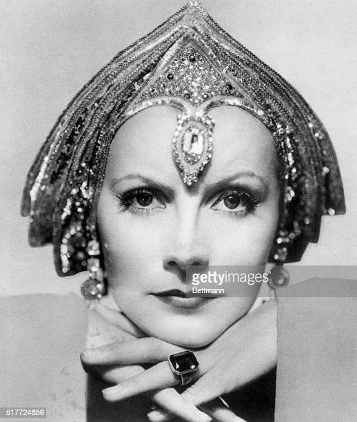 Actress Greta Garbo closeup portrait as she appeared in the movie 'Grand Illusions' 1931