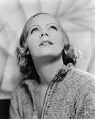Actress Greta Garbo poses for a publicity photo for the MGM movie 'A Woman Of Affairs' which was released in 1928