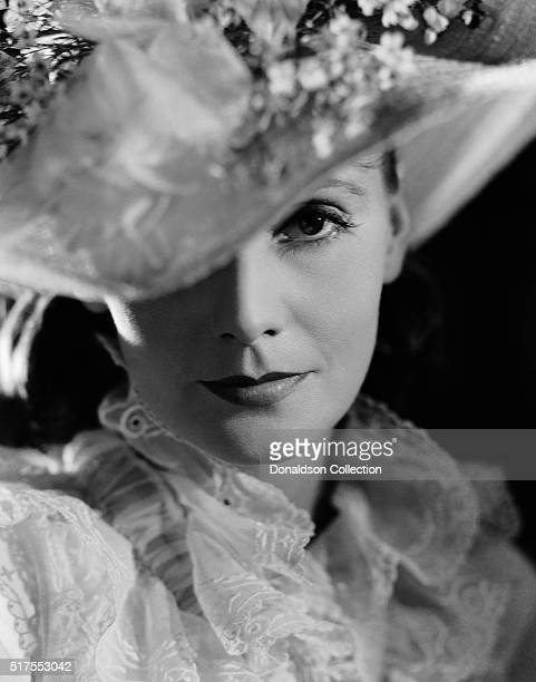 Actress Greta Garbo poses for a publicity photo for the MGM movie 'Anna Karenina' which was released in 1935