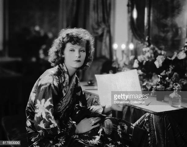 Actress Greta Garbo poses for a publicity photo for the MGM movie 'The Divine Woman' which was released in 1928
