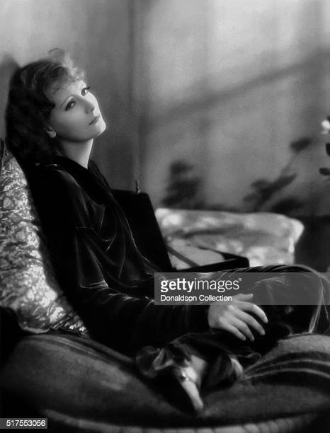 Actress Greta Garbo poses for a publicity photo for the MGM movie 'The Kiss' which was released in 1929