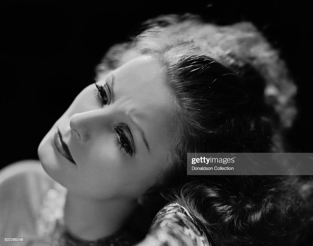Actress Greta Garbo poses for a publicity still for the MGM film 'Inspiration' in 1931 in Los Angeles California