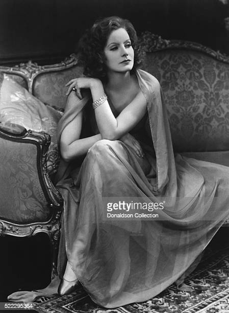 Actress Greta Garbo poses for a publicity still for the MGM film 'The Mysterious Lady' in 1928 in Los Angeles California