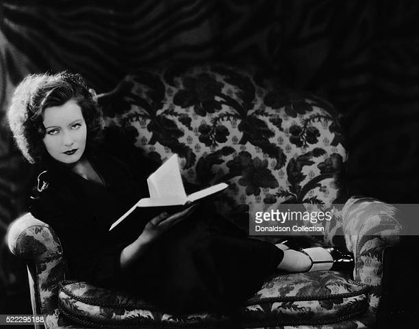 Actress Greta Garbo poses for an MGM publicity still circa 1925 in Los Angeles California