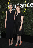 Actress Greta Gerwig and director Marielle Heller arrive for the 2015 Sundance Institute celebration benefit held at 3LABS on June 2 2015 in Culver...