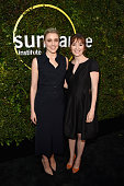 Actress Greta Gerwig and director Marielle Heller attend the 2015 Sundance Institute Celebration Benefit at 3LABS on June 2 2015 in Culver City...