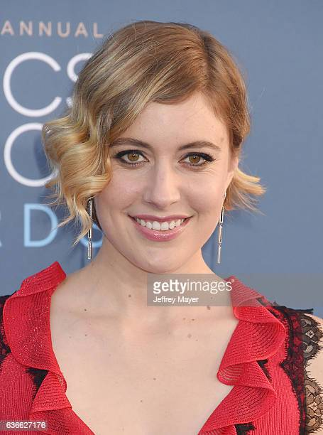 Actress Greta Gerwig arrives at The 22nd Annual Critics' Choice Awards at Barker Hangar on December 11 2016 in Santa Monica California