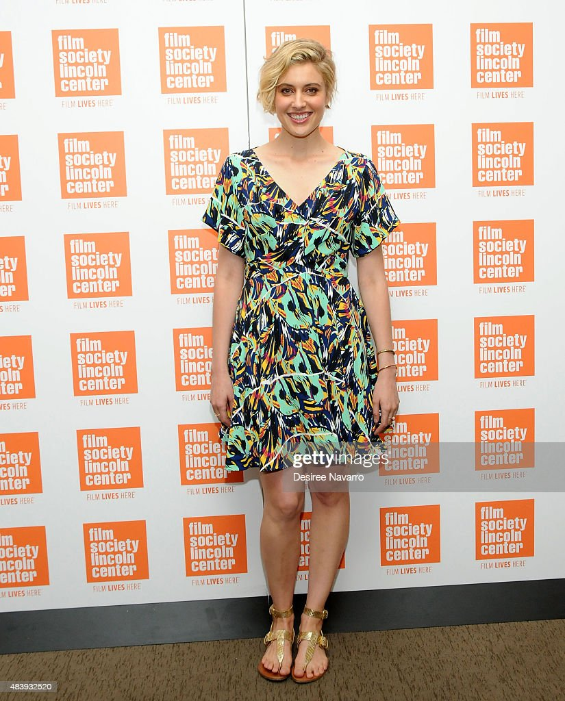 Actress <a gi-track='captionPersonalityLinkClicked' href=/galleries/search?phrase=Greta+Gerwig&family=editorial&specificpeople=4249808 ng-click='$event.stopPropagation()'>Greta Gerwig</a> attends 2015 Film Society of Lincoln Center Summer Talks with 'Mistress America' at Elinor Bunin Munroe Film Center on August 13, 2015 in New York City.