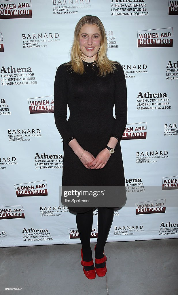 Actress Greta Gerwig attends the 2013 Athena Film Festival Opening Night Reception at The Diana Center At Barnard College on February 7, 2013 in New York City.