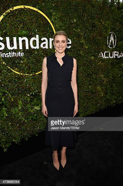 Actress Greta Gerwig attends the 2015 Sundance Institute Celebration Benefit at 3LABS on June 2 2015 in Culver City California