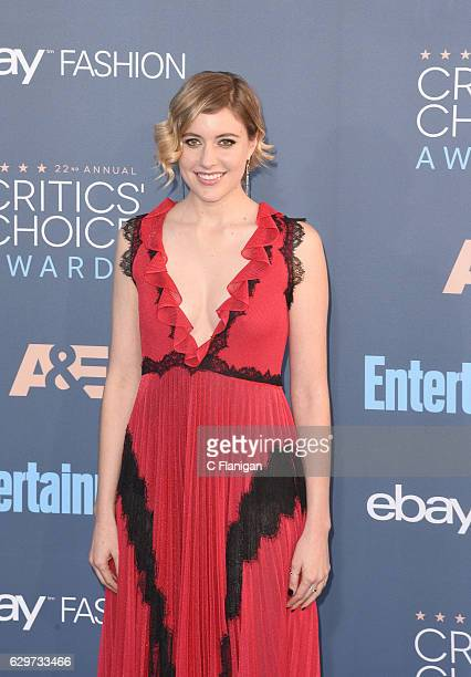 Actress Greta Gerwig attends The 22nd Annual Critics' Choice Awards at Barker Hangar on December 11 2016 in Santa Monica California