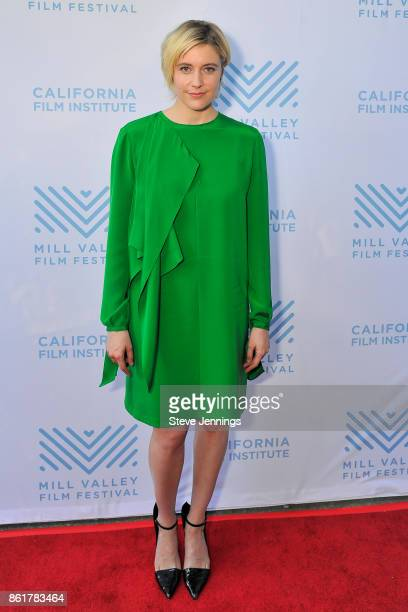 Actress Greta Gerwig attends the 40th Mill Valley Film Festival with her Directing Writing debut of the film 'Lady Bird' at the Outdoor Art Club on...