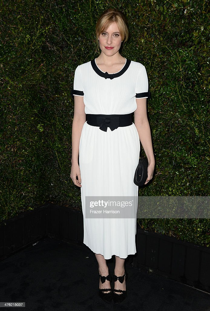 Actress <a gi-track='captionPersonalityLinkClicked' href=/galleries/search?phrase=Greta+Gerwig&family=editorial&specificpeople=4249808 ng-click='$event.stopPropagation()'>Greta Gerwig</a> attends the Chanel and Charles Finch Pre-Oscar Dinner at Madeo Restaurant on March 1, 2014 in Los Angeles, California.