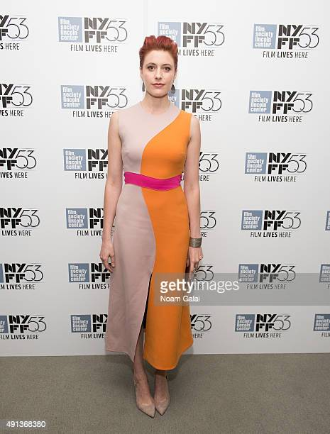 Actress Greta Gerwig attends the cocktail reception for 'Maggie's Plan' during the 53rd New York Film Festival at Alice Tully Hall Lincoln Center on...