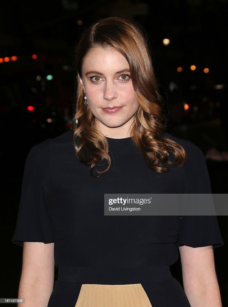 Actress <a gi-track='captionPersonalityLinkClicked' href=/galleries/search?phrase=Greta+Gerwig&family=editorial&specificpeople=4249808 ng-click='$event.stopPropagation()'>Greta Gerwig</a> attends the Los Angeles Times Young Hollywood Roundtable at AFI FEST 2013 presented by Audi at the TCL Chinese Theatre on November 8, 2013 in Hollywood, California.