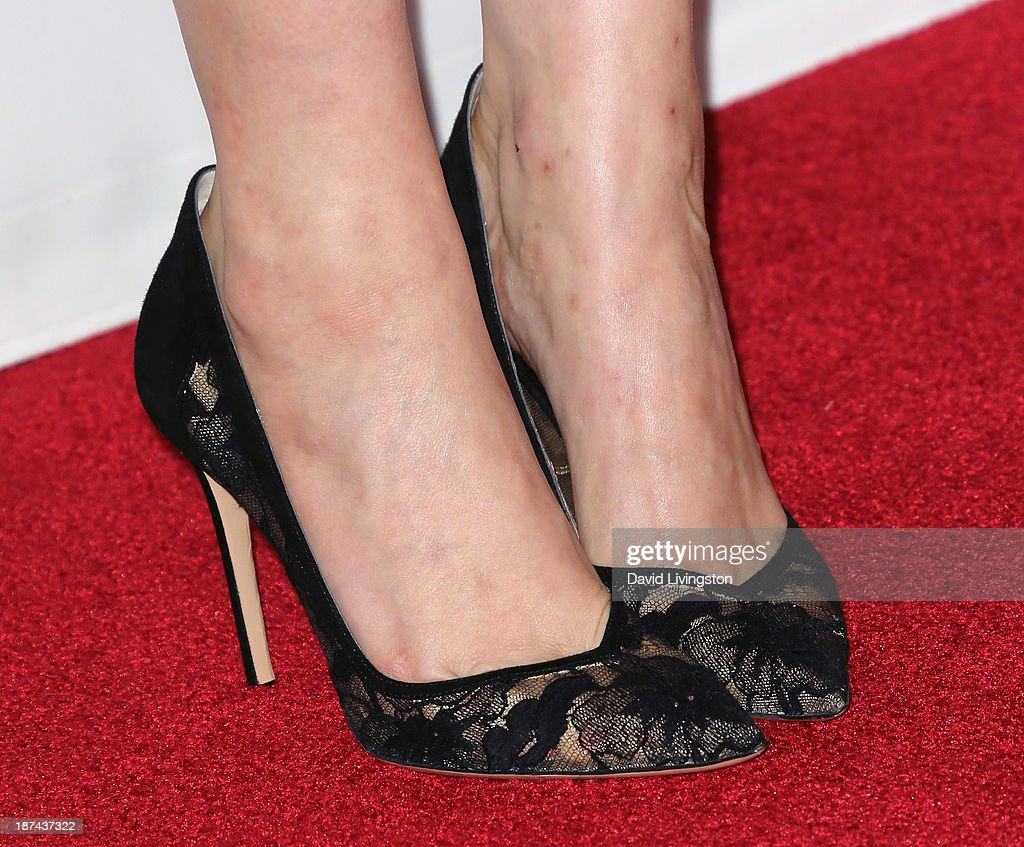 Actress Greta Gerwig (shoe detail) attends the Los Angeles Times Young Hollywood Roundtable at AFI FEST 2013 presented by Audi at the TCL Chinese Theatre on November 8, 2013 in Hollywood, California.