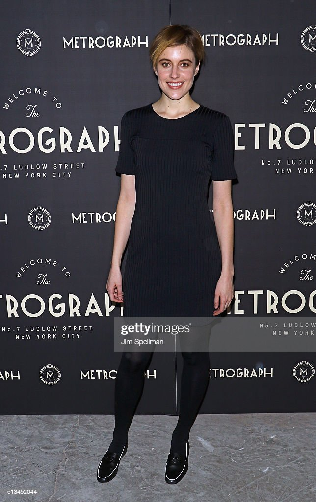 Actress Greta Gerwig attends the Metrograph opening night at Metrograph on March 2, 2016 in New York City.