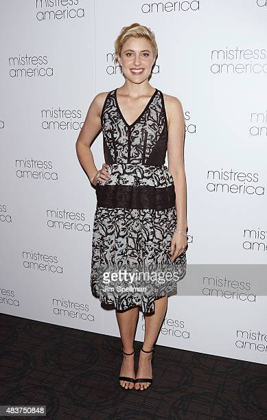 Actress Greta Gerwig attends the 'Mistress America' New York premiere at Landmark Sunshine Cinema on August 12 2015 in New York City